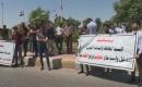 Kerkük'te Petrol Mühendisleri Gösteri Düzenledi