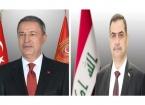 Türkiye Milli Savunma Bakanı Akar, Iraklı Mevkidaşı El-Şamari ile Görüştü