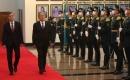 Bakan Akar Kazakistan'da askeri törenle karşılandı