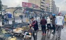 Güvenlik güçleri, göstericilerin kalesi Tahrir'deki eylem çadırlarını yaktı