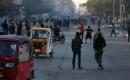 Bağdat'ta El Hillani Meydanı Yakınında Göstericiler İle Güvenlik Güçleri Arasında Çatışma Çıktı