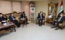 Ulaştırma Bakanı El Şibli,Türkiye'nin Bağdat Büyükelçisi Yıldız'ı Bağdat'taki Ofisinde Kabul Etti