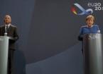 Merkel, Berlin'de, Başbakan Kazımi ile yapacağı görüşme öncesinde ortak basın toplantısı düzenlendi